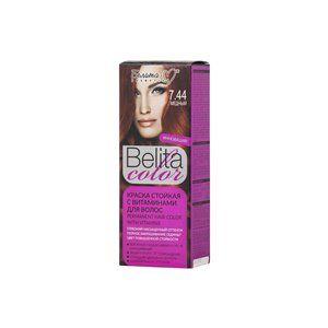 Стойкая краска с витаминами для волос 7.44 Медный