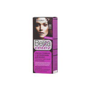 Стойкая краска с витаминами для волос 6.66 Бордо