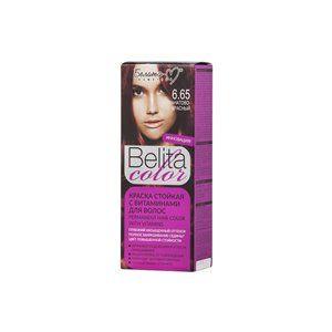 Стойкая краска с витаминами для волос 6.65 Гранатово-красный