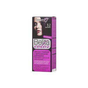 Стойкая краска с витаминами для волос 5.2 Баклажан