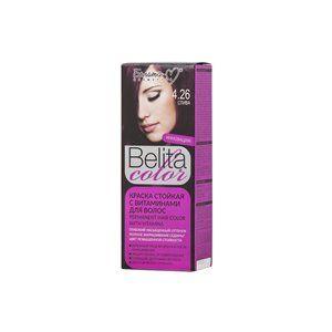 Стойкая краска с витаминами для волос 4.26 Слива