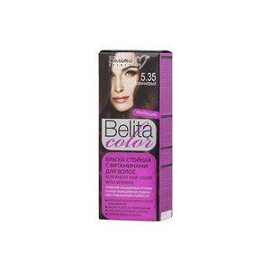 Стойкая краска с витаминами для волос 5.35 Коричневый
