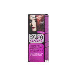 Стойкая краска с витаминами для волос 6.46 Махагон